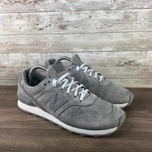 New Balance 696 Womens Size 9.5 Gray Suede Sneaker